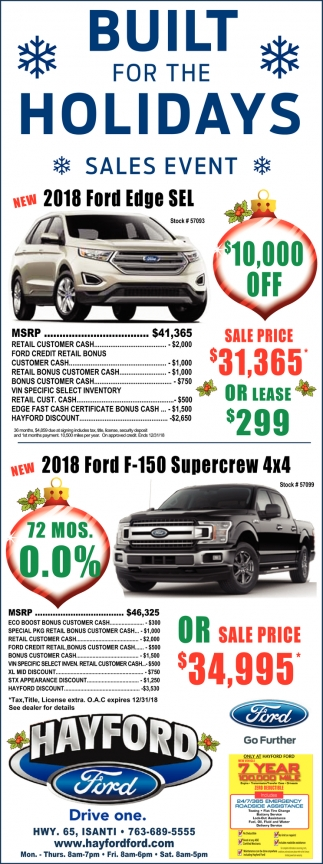 Built for the Holidays Sales Event