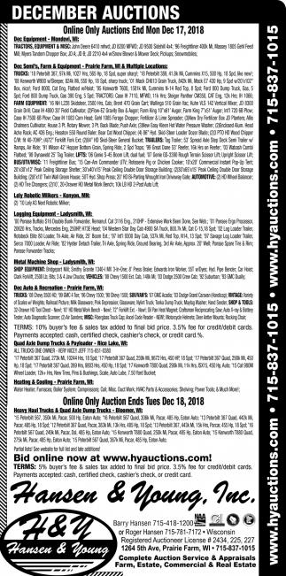 December Auctions