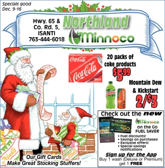 gas coupons forest lake mn