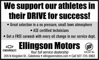 We Support Our Athletes in their Drive for Success!