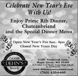 Celebrate New Year's Eve with Us!