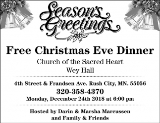 FREE Christmas Eve Dinner