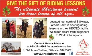 Give the Gift of Riding Lessons