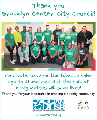 Thank You, Brooklyn Center City Council!