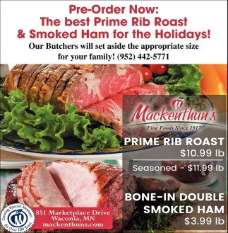 The Best Prime Rib Roast & Smoke Ham for the Holidays!