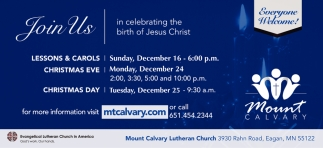 Join us in Celebrating the Birth of Jesus Christ