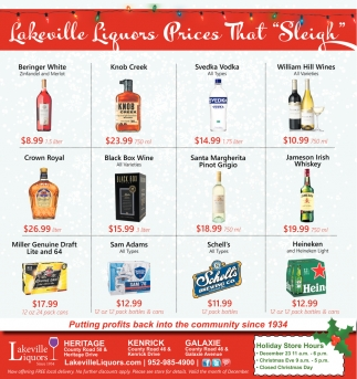 Lakeville Liquors Prices that