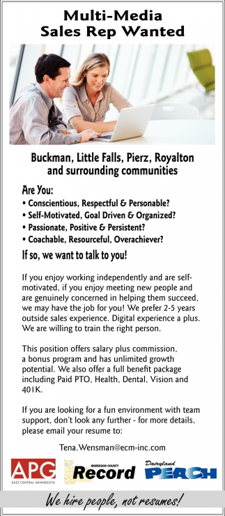 Multi-media Sales Rep Wanted