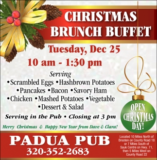 Christmas Brunch Buffet