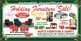 Holiday Furniture Sale!