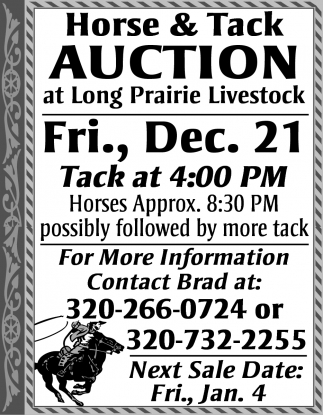 Horse & Tack Auction
