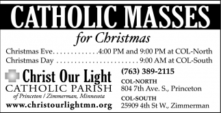 Catholic Masses for Christmas