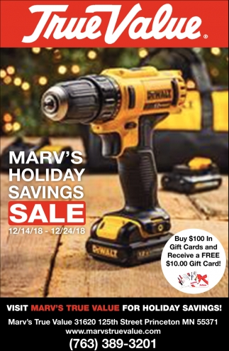 Marv's Holiday Savings Sale