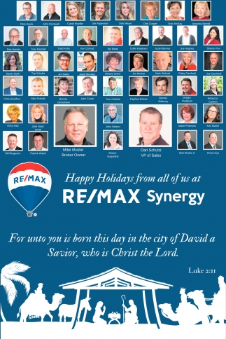 Happy Holidays from All of Us at Re/Max Synergy