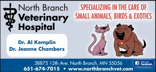 Specializing in the Care of Small Animals, Bird & Exotics