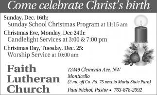Come Celebrate Chrit's Birth