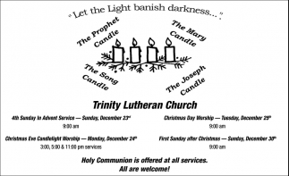 Let the Light Banish Darkness..