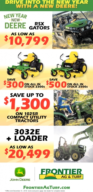 Drive into the New Year with a New Deere!