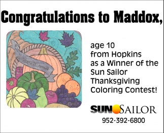 Congratulations to Maddox