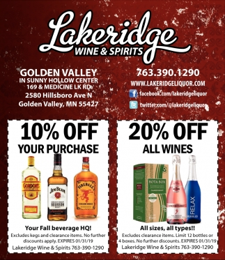 Lakeridge Wine & Spirits