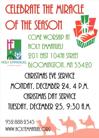 Celebrate the Miracle of the Season