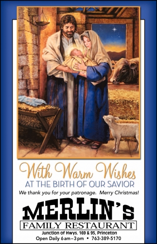 With Warm Wishes at the Birth of Our Savior