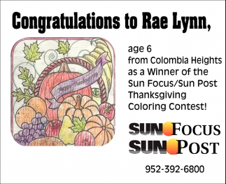 Congratulations to Rae Lynn