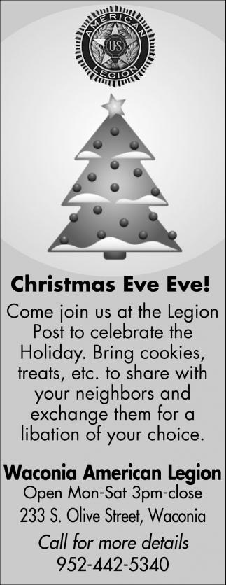 Christmas Eve Eve!