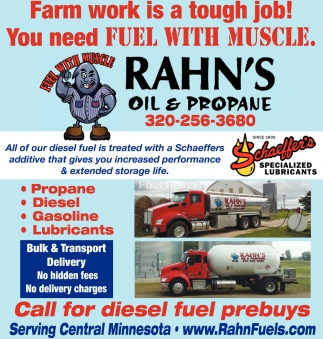 All of Our Diese Fuel is Treated with a Schaeffers