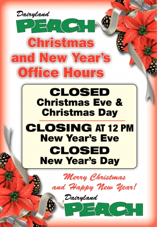 Christmas and New Year's Office Hours