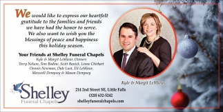 Your Friends at Shelley Funeral Chapels
