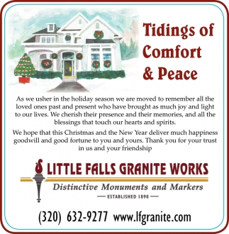 Tidings of Comfort & Peace