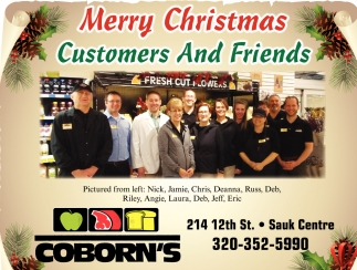Merry Christmas Customers and Friends