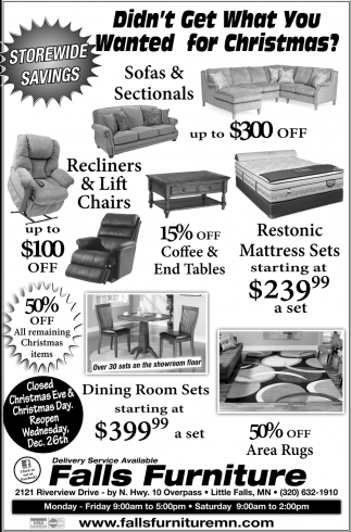 Didn T Get What You Wanted For Christmas Falls Furniture Little Mn