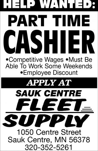 Part Time Cashier