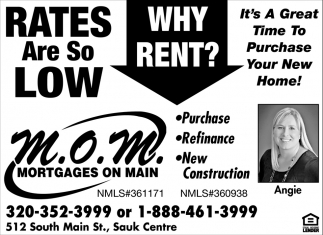 It's a Great Time to Purchase Your New Home!