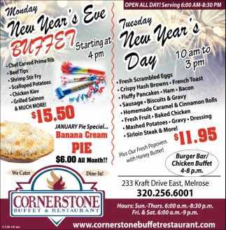 Monday New Year's Eve Buffet