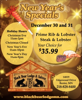 New Year's Specials