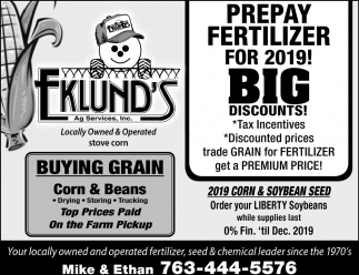 Prepay Fertilizer for 2019!
