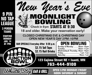 New Year's Eve Moonlight Bowling