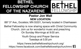 Youth Group and Prayer Service