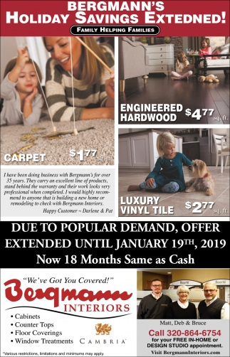 Holiday Savings Extended!