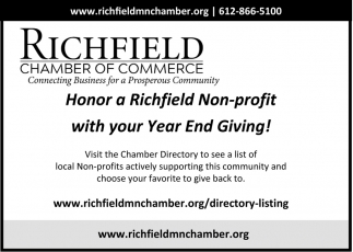 Honor a Richfield Non-profit with Your Year End Giving!