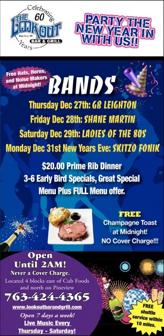 Party the New Year in with Us!