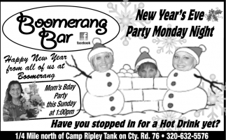 Merry Christmas from the Boomerang Bar