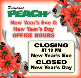 New Year's Eve & New Year's Day Office Hours