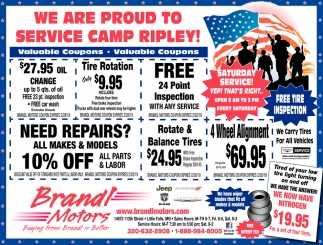 We are Proud to Service Camp Ripley!
