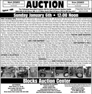 Auction January 6th