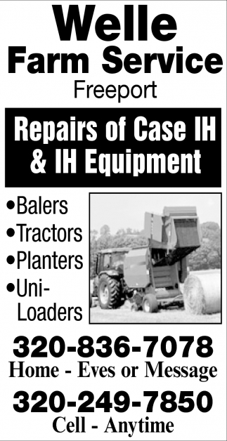 Repairs of Case IH & IH Equipment