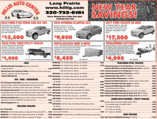 New Year Savings!